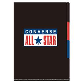 CONVERSE コンバース<br>A4 3ポケットファイル(ブラック)