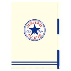 CONVERSE コンバース<br>A4 3ポケットファイル(ホワイト)