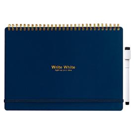 Write White ライトホワイト<br> ホワイトボードノートB5(NV)