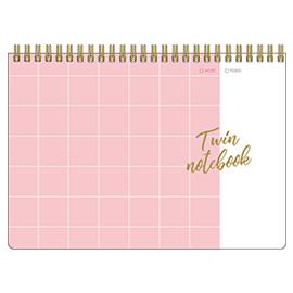 スタディプランシリーズ<br>TWIN A5リングノート(ピンク方眼)