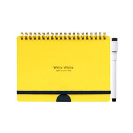 Write White ライトホワイト<br> ホワイトボードノートB6(YL)