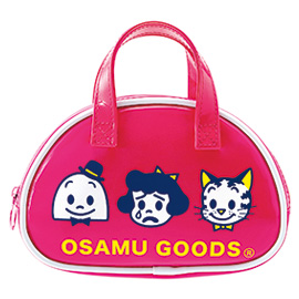 OSAMU GOODS オサムグッズ<br>ボストン型ポーチ(ローズ)