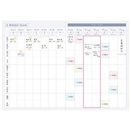 スタディプランシリーズ<br>テスト記録帳(花)