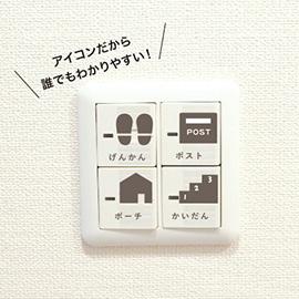 おかたづけ育シリーズ OURHOME<br>スイッチシール(玄関)