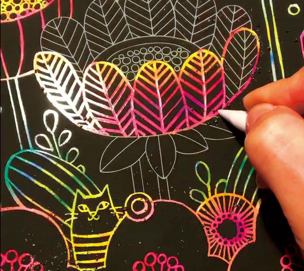 大人のためのヒーリングスクラッチアート(癒しの森の動物たち)