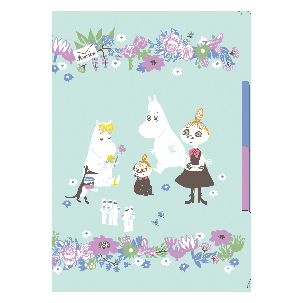 MOOMIN ムーミン<br>A4 3ポケットファイル(ブルー)