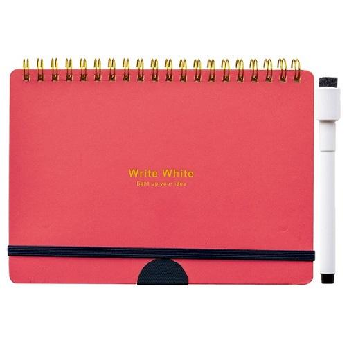 Write White ライトホワイト<br>ホワイトボードノートB6(RE)