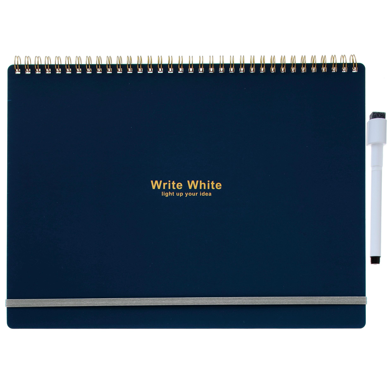Write White ライトホワイト<br>ホワイトボードノートA4(NV)