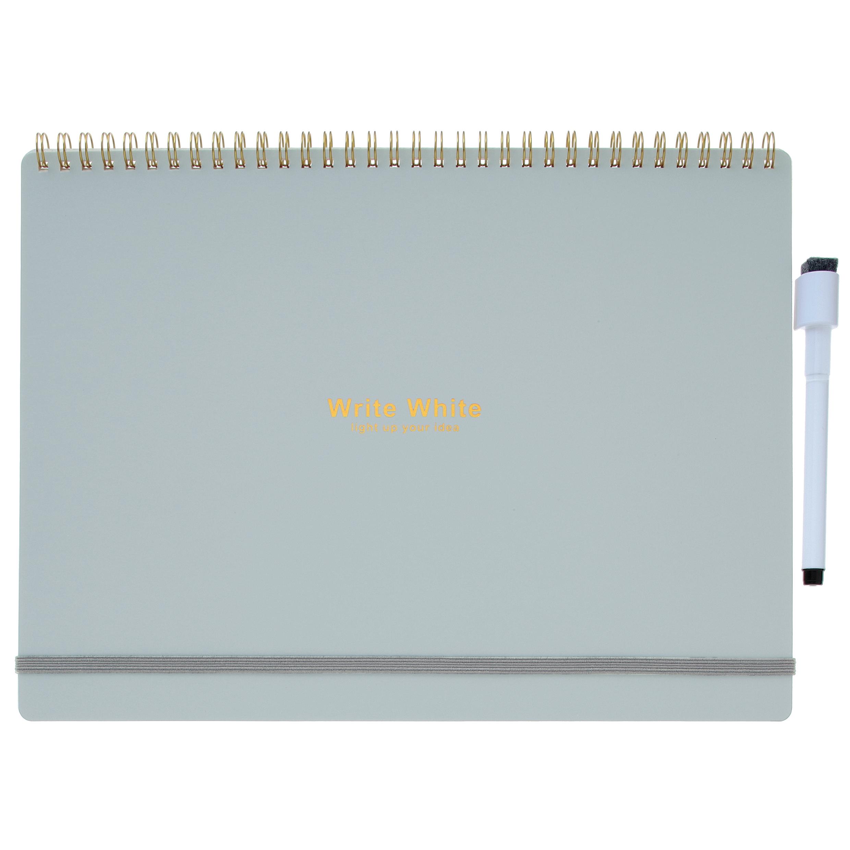 Write White ライトホワイト<br> ホワイトボードノートA4(GR)