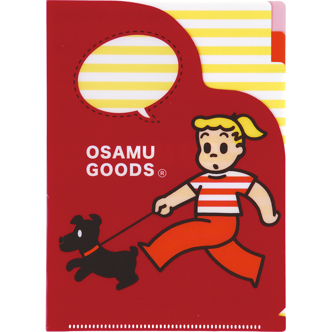 OSAMU GOODS オサムグッズ<br>A5 3ポケットファイル(散歩)