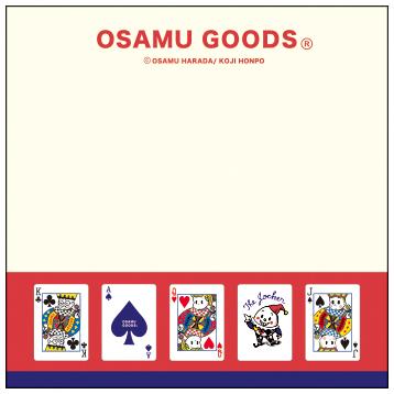 OSAMU GOODS オサムグッズ<br>ブロックメモ(トランプ)