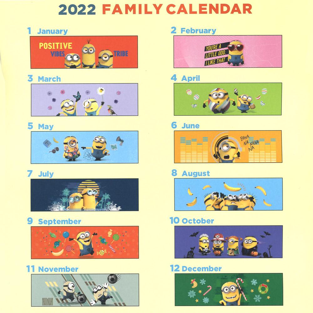 ミニオンファミリーカレンダー
