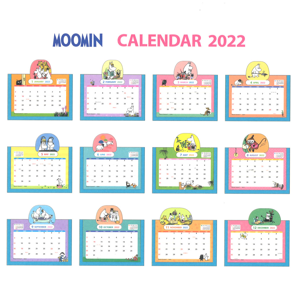 MOOMIN  ムーミン原画卓上ポップカレンダー