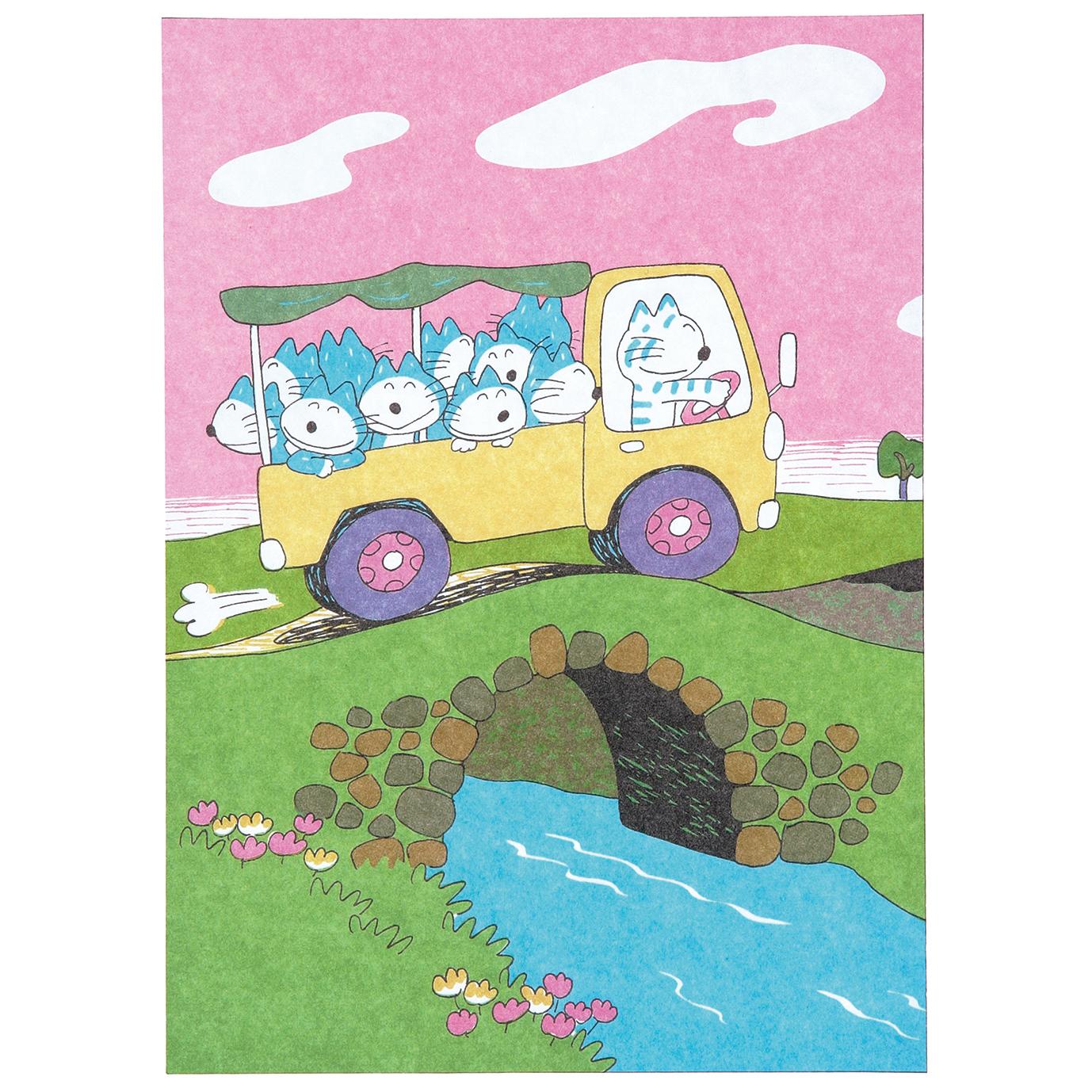 11ぴきのねこ 馬場のぼる<br> ケース付きレターセット(トラック)