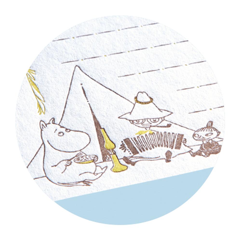 MOOMIN ムーミン<br>活版レターセット(キャンプ)