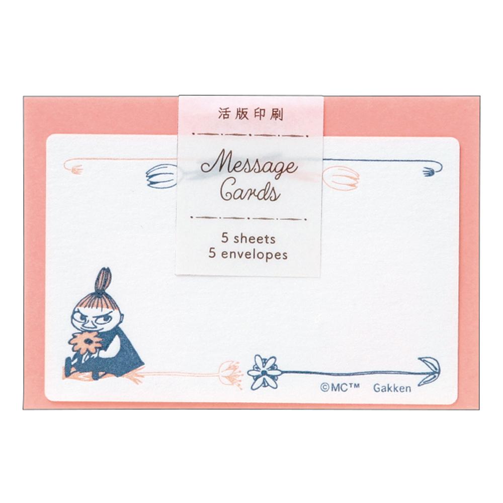 MOOMIN ムーミン<br>活版ネームカード(花とリトルミイ)