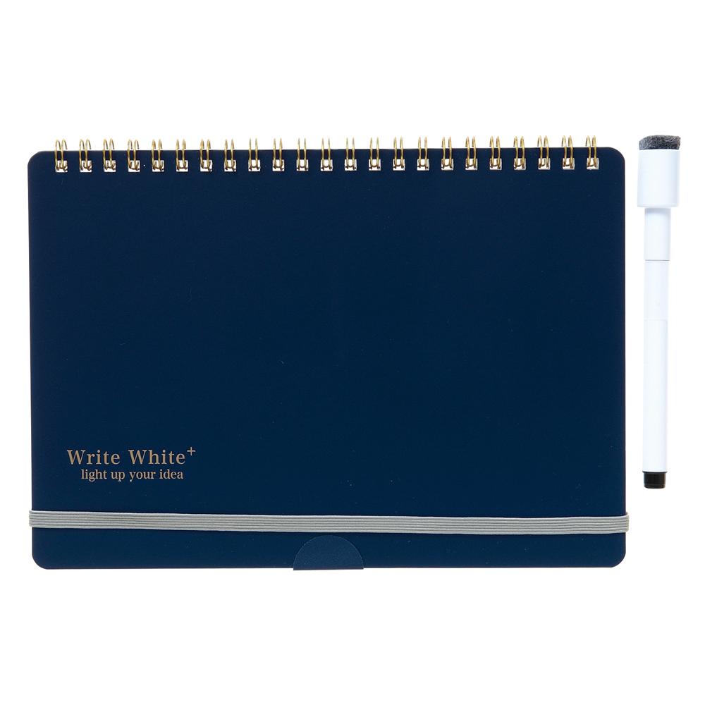 Write White+ <br> ホワイトボードノートA5(NV)